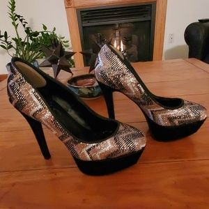Jessica Simpson Gorgeous Sequin Stilettos …